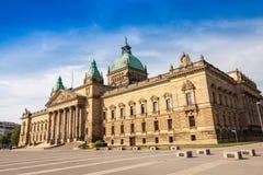 Tribunal superior, ciudad de Leipzig Fotografía de archivo