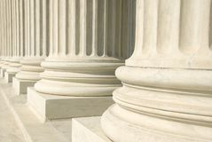 Tribunal Supremo de los E.E.U.U. - columnas Imágenes de archivo libres de regalías