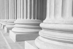 Tribunal Supremo de los E.E.U.U. - columnas Fotografía de archivo