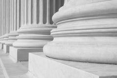 Tribunal Supremo de los E.E.U.U. - columnas Fotos de archivo