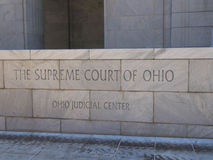 Tribunal Supremo Front Entrance Sign de Ohio foto de archivo libre de regalías