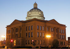Tribunal viejo en Lincoln, Logan County fotos de archivo libres de regalías