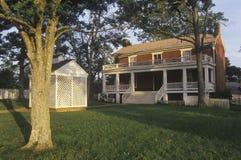 Tribunale, conosciuto come la Camera di Mclean a Appomattox, alla Virginia, al sito della resa ed all'estremità della guerra civi Immagine Stock