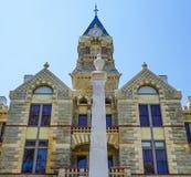Tribunale della contea di Fayette nella fattoria della La, il Texas immagini stock libere da diritti