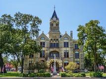 Tribunale della contea di Fayette nella fattoria della La, il Texas fotografia stock