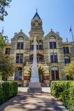 Tribunale della contea di Fayette nella fattoria della La, il Texas fotografie stock libere da diritti