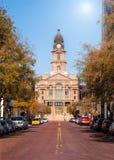 Tribunale della contea di Tarrant a Fort Worth il Texas fotografia stock libera da diritti