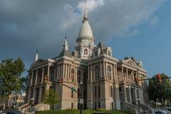 Tribunale della contea di Tippecanoe, Lafayette, Indiana fotografia stock libera da diritti