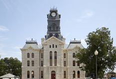 Tribunale di Granbury del monumento storico in TX Immagine Stock Libera da Diritti