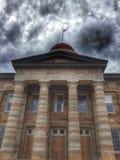 Tribunale di Illinois sotto le nuvole scure Immagine Stock Libera da Diritti