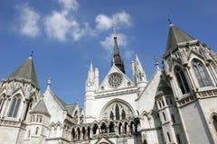 Tribunales de Justicia reales Imagen de archivo libre de regalías