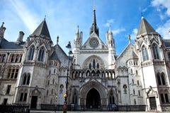 Tribunales de Justicia reales en Londres Fotografía de archivo libre de regalías