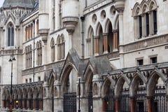 Tribunales de Justicia reales en Londres Fotos de archivo
