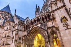 Tribunales de Justicia reales Old City London Inglaterra Fotos de archivo libres de regalías