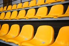 Tribunas amarelas Foto de Stock Royalty Free