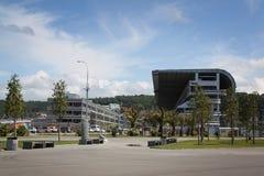 Tribunas del complejo f1 en Sochi Imagen de archivo