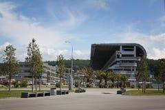 Tribunas del complejo f1 en Sochi Imagen de archivo libre de regalías