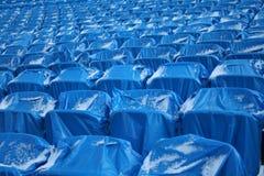 Tribune blu Fotografie Stock Libere da Diritti