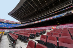 The Tribune of Camp Nou Stadium Royalty Free Stock Image
