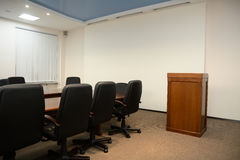 Tribune in conference room Royalty Free Stock Photos