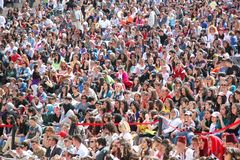 Tribune. Crowds watch the events Royalty Free Stock Image