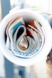 Tribune de la presse photo stock