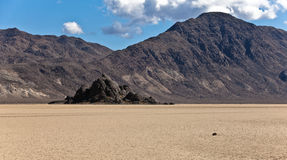 Tribune et champ de courses Playa, Death Valley Photo stock