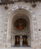 Tribune Holiday Wreath Royalty Free Stock Photography