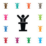 Tribune Icon. Politician Vector Element Can Be Used For Politician, Tribune, Manager Design Concept. Royalty Free Stock Photos