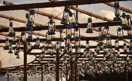 The Tribune Lanterns. Souk Okaz Exhibition, Thaif, Saudi Arabia Stock Images