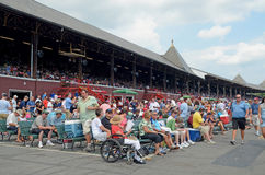 Tribune, le champ de courses, Saratoga Springs, NY, Tom Wurl Photos stock