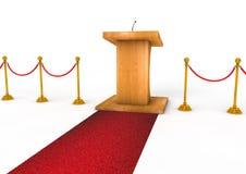 Tribune ou podium pour des sermons sur le fond blanc Photo stock