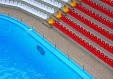 Tribune pool Royalty Free Stock Photo