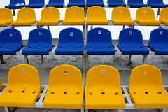 Tribune seats. In a stadium Royalty Free Stock Photo