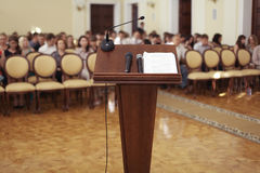 Tribune speeches Royalty Free Stock Photo