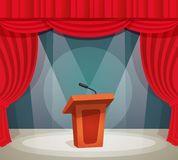 Tribune on stage Royalty Free Stock Image
