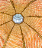 Tribune Uffizi Gallery. Florence, Italy-June 12, 2015. Detail of the magnificent dome encrusted with thousands of precious shells inside the Tribune room inside Stock Image