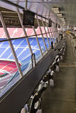 Tribune vuote dello stadio VIP Immagini Stock