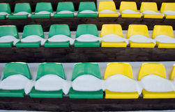 Tribune yelow and green chairs Stock Photo