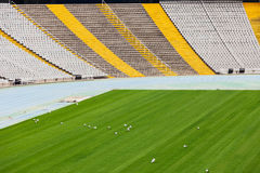 Tribunes of the large stadium Stock Photo