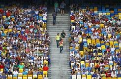 Tribunes of NSC Olympic stadium Stock Photos