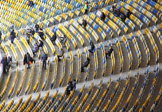 Tribunes of the Olympic stadium in Kyiv Stock Images