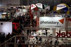 Tribunes in Photoshow Rome, 2012 Stock Afbeelding