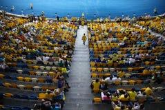 Tribunes van Olympisch stadion in Kyiv Stock Afbeeldingen