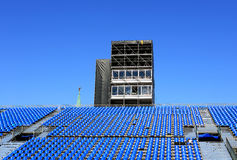 Tribunes for the viewers on the square Stock Image