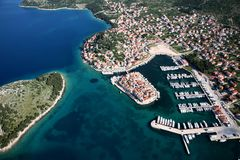 Tribunj Kroatië Stock Foto's