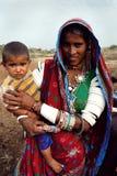 TRIBUS DE BANJARA EN LA INDIA imagenes de archivo