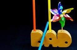 Tribut oder Geschenk zum Vati von einem Kind Lizenzfreie Stockbilder