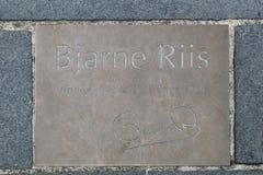 Tribut zu Bjarne Riis-Radfahrer, Sieger des Tour de France im Jahre 1996 Lizenzfreie Stockfotografie
