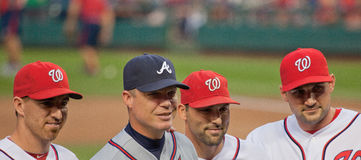 Tribut zum Atlanta Braves-Spieler-Abklopfhammer Jones Lizenzfreie Stockfotografie